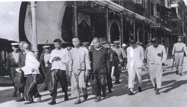 KMT troops rounding up Communist prisoners for execution during Shanghai insurrection (1927)