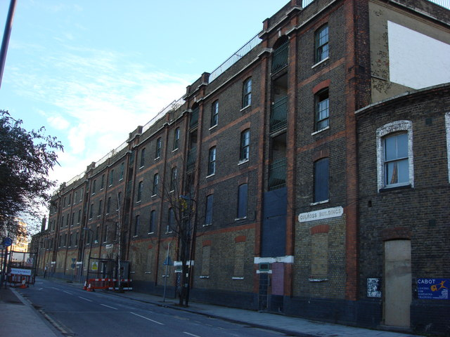 Derelict Warehousing, Battle Bridge Road - geograph.org.uk - 976963