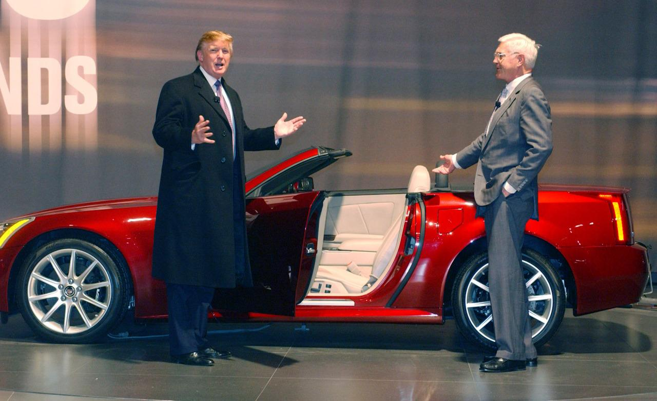 Donald Trump Previews The Cadillac Xlr V on Ht 4100 Engine
