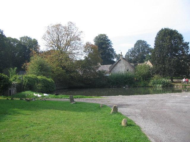 Duckpond at Biddestone - geograph.org.uk - 56550