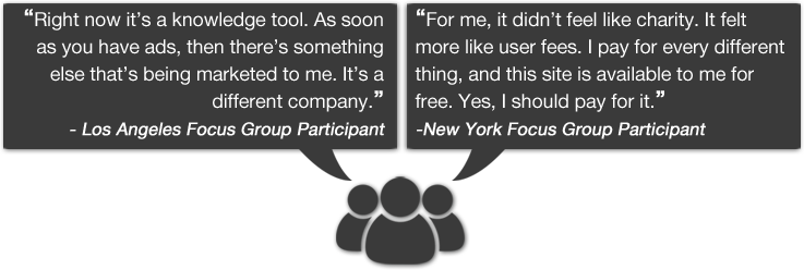 Examples of Quotes from Focus Groups, for 2014 - 2015 Fundraising Report