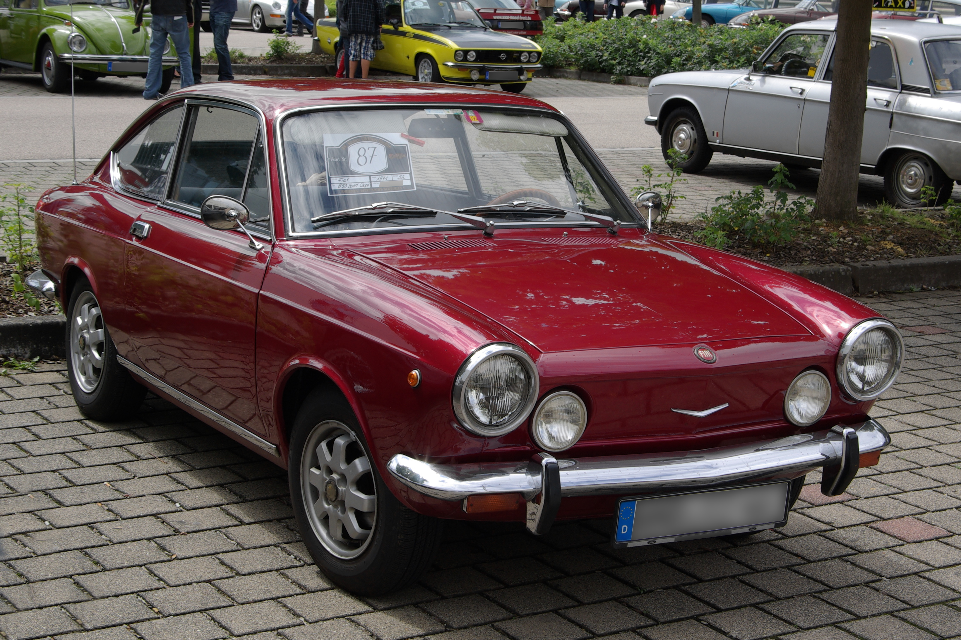 file fiat 850 sport coupe 2012 07 15 14 59 09 jpg wikimedia commons. Black Bedroom Furniture Sets. Home Design Ideas