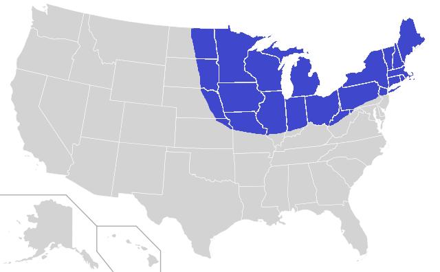 Frost Belt Wikipedia - Us sunbelt map