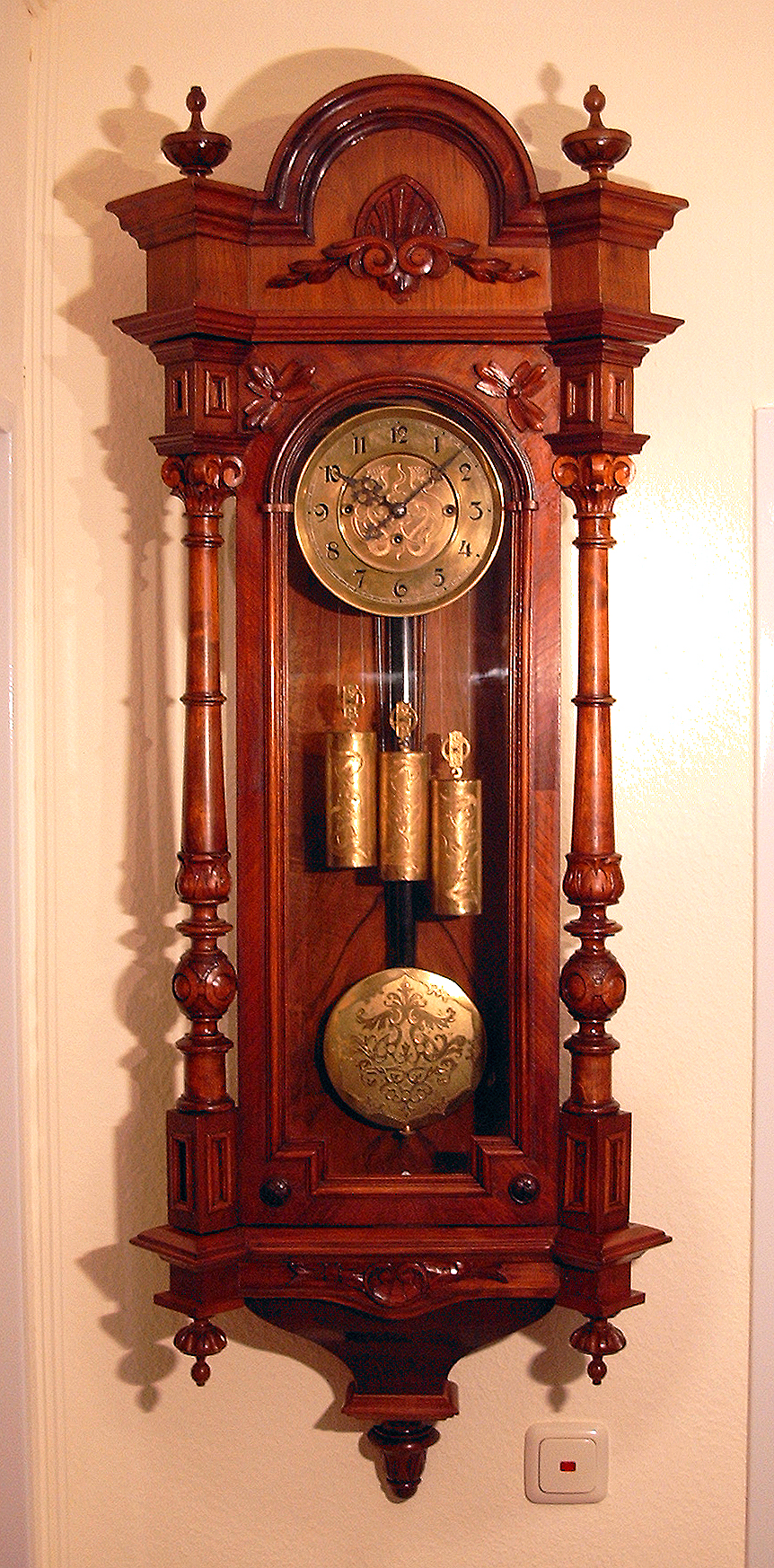 Gustav becker wikipedia - Wall mounted grandfather clock ...