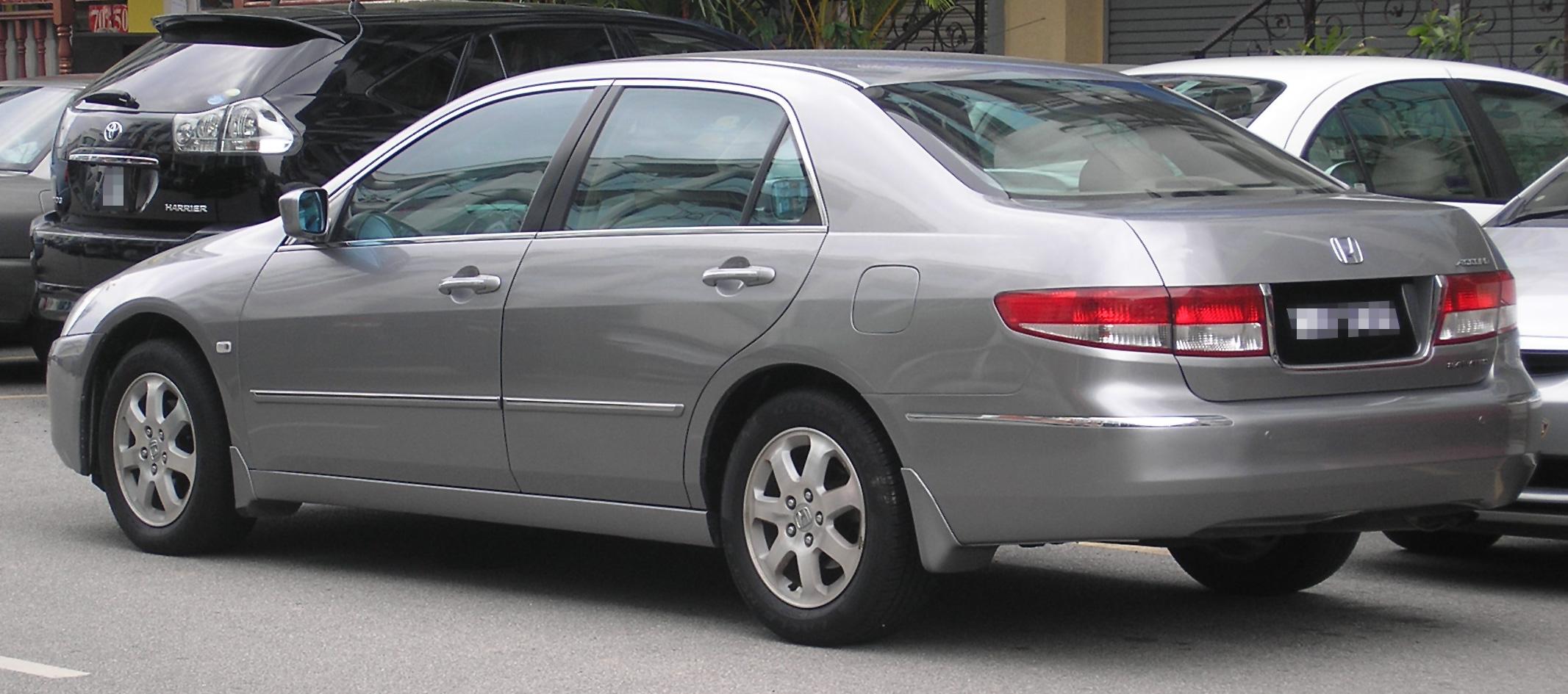 2007 Honda Accord >> File:Honda Accord (seventh generation) (rear), Serdang.jpg - Wikimedia Commons