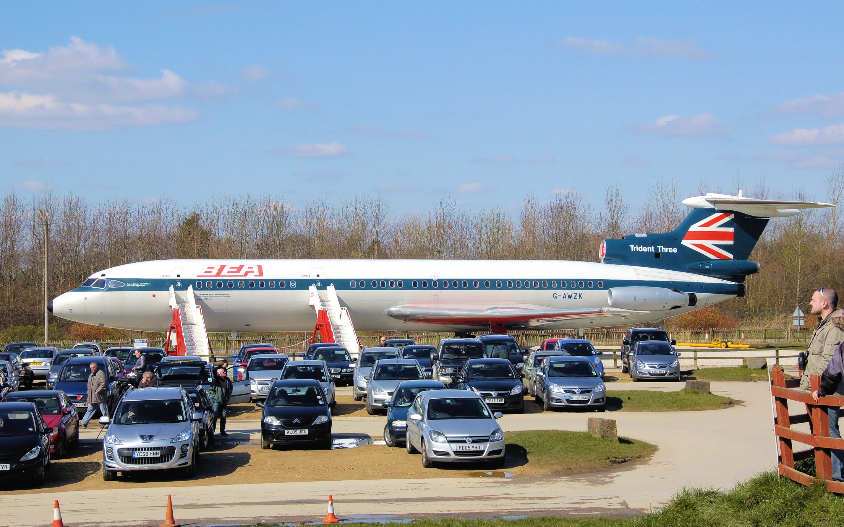 Car Parked On Airport Runway