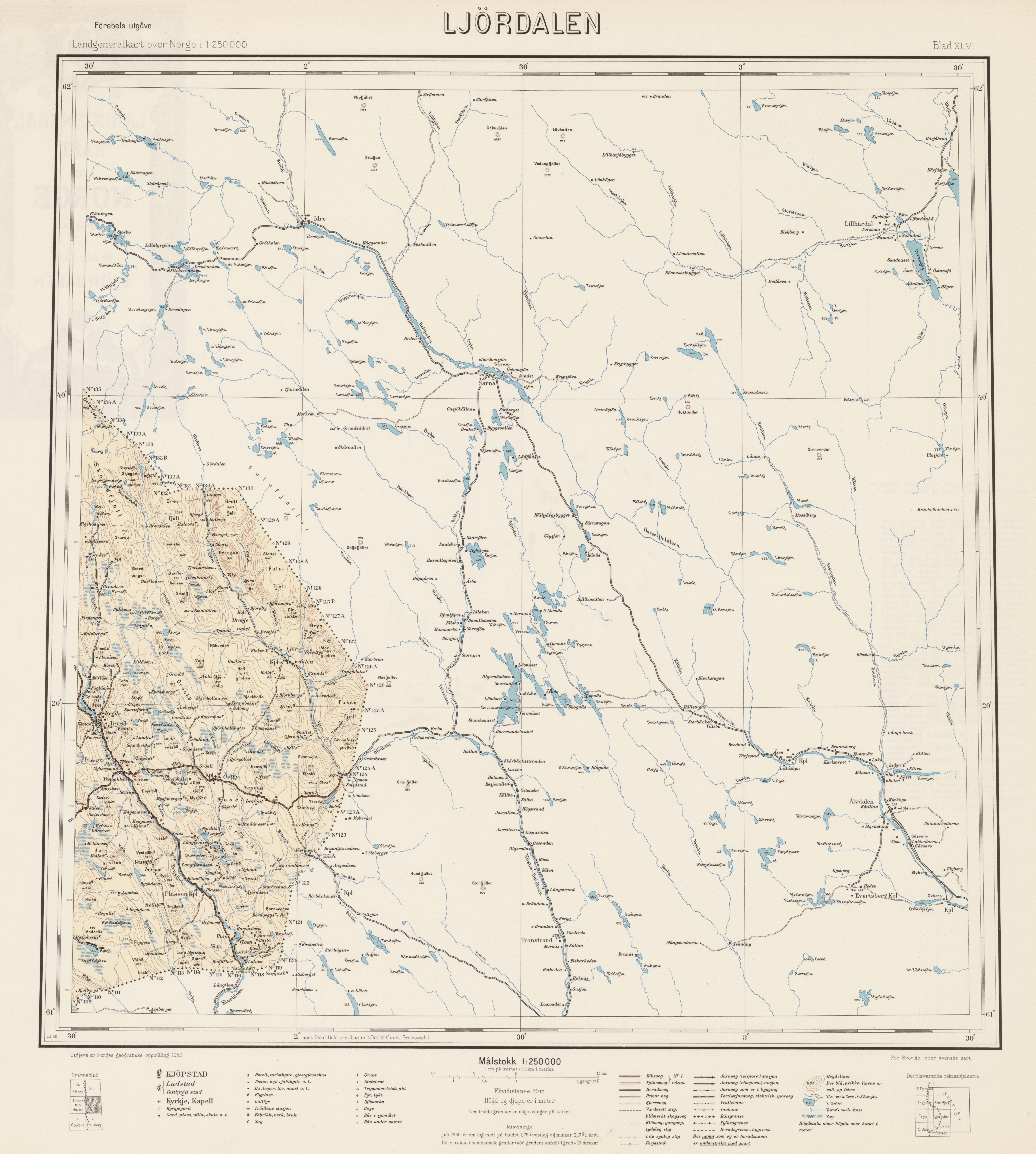 ljørdalen kart File:Landgeneralkart 46, Ljørdalen, 1950.   Wikimedia Commons ljørdalen kart