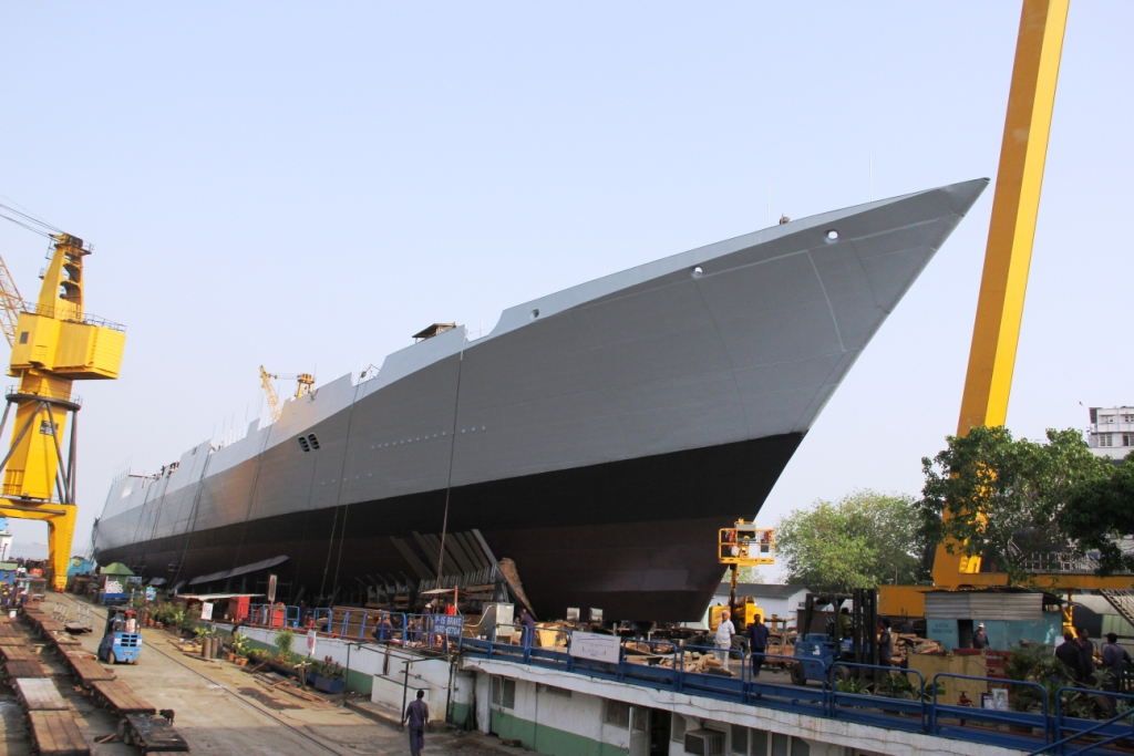 Launching of INS Visakhapatnam - 4.JPG