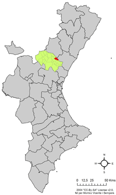 Vị trí của Algimia de Almonacid