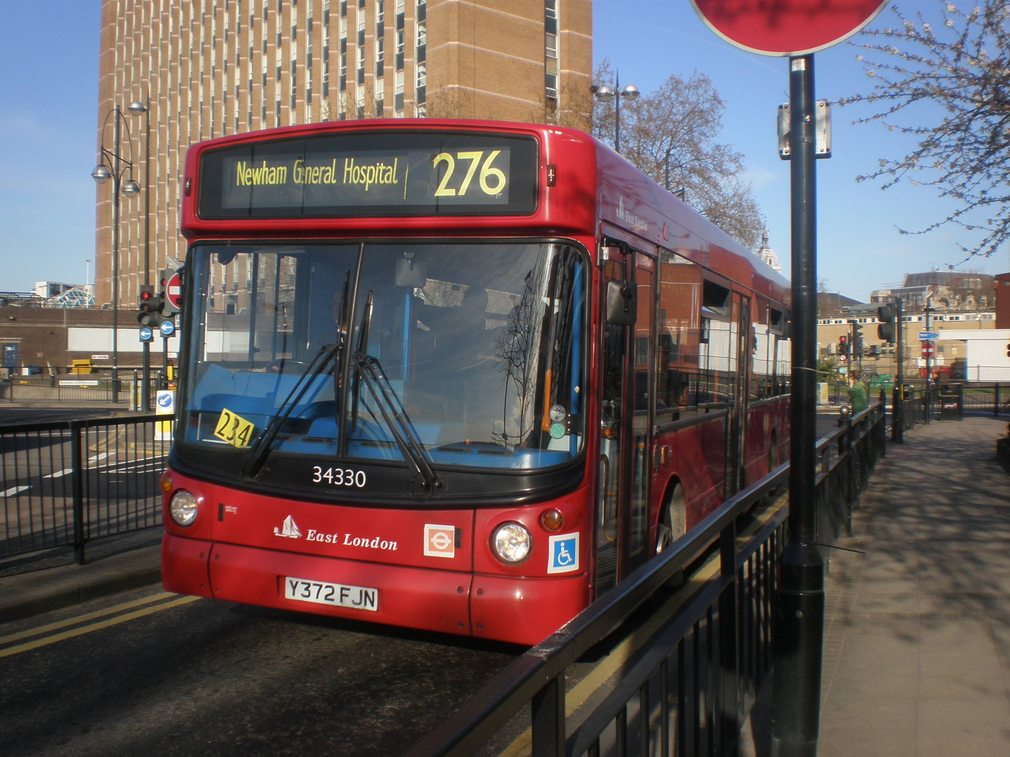 File:London bus route 276 Stratford Bus Station.jpg
