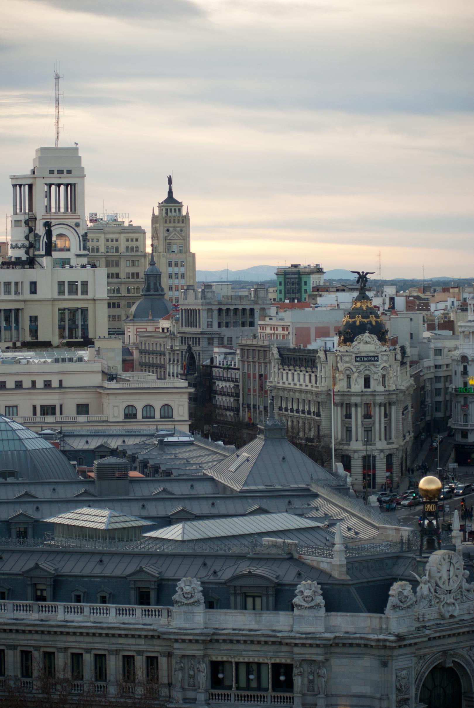File Madrid Desde El Palacio De Cibeles Jpg Wikimedia Commons