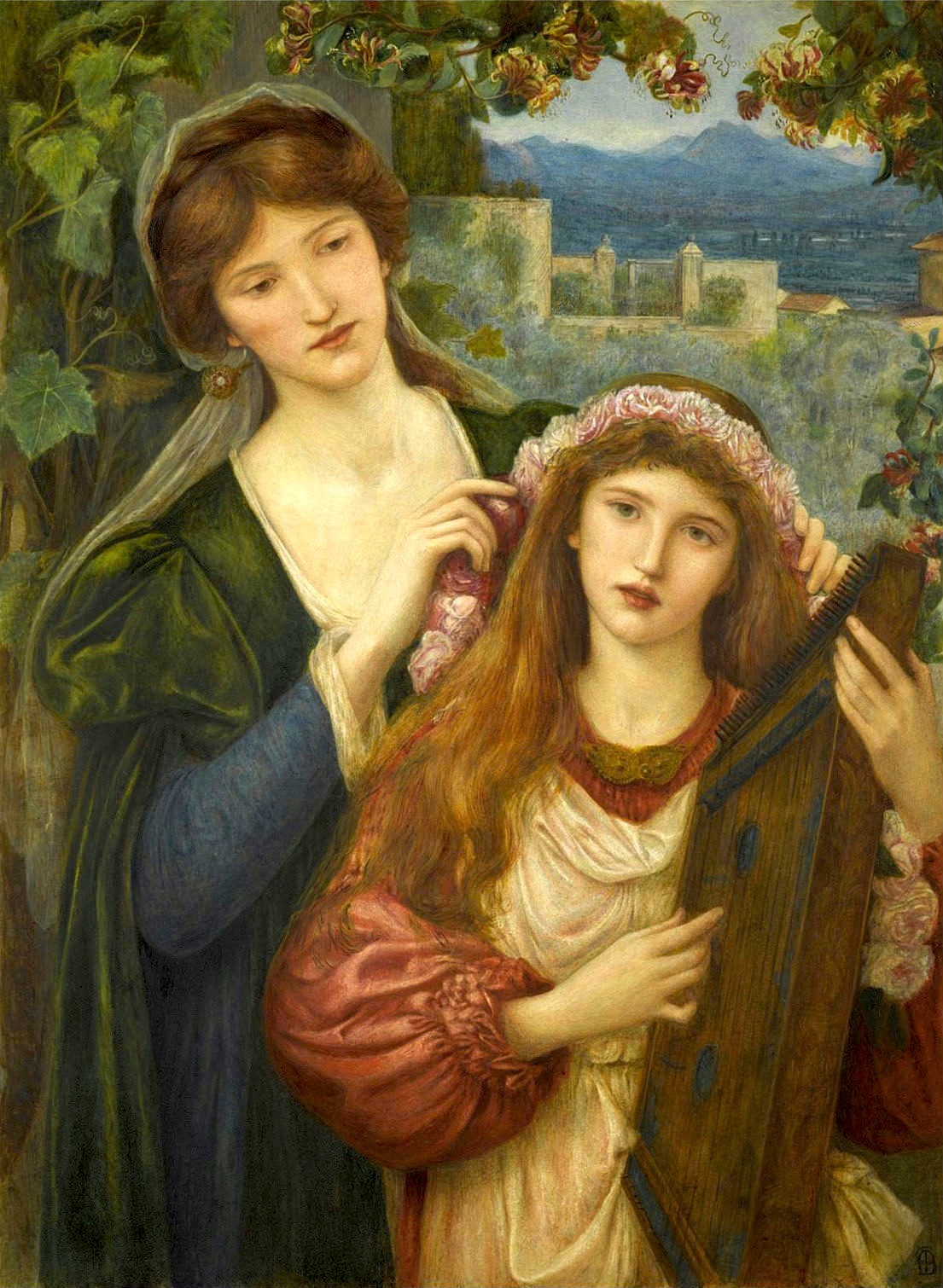 https://upload.wikimedia.org/wikipedia/commons/2/28/Marie_Spartali_Stillman_-_The_Childhood_of_Saint_Cecilia.jpg