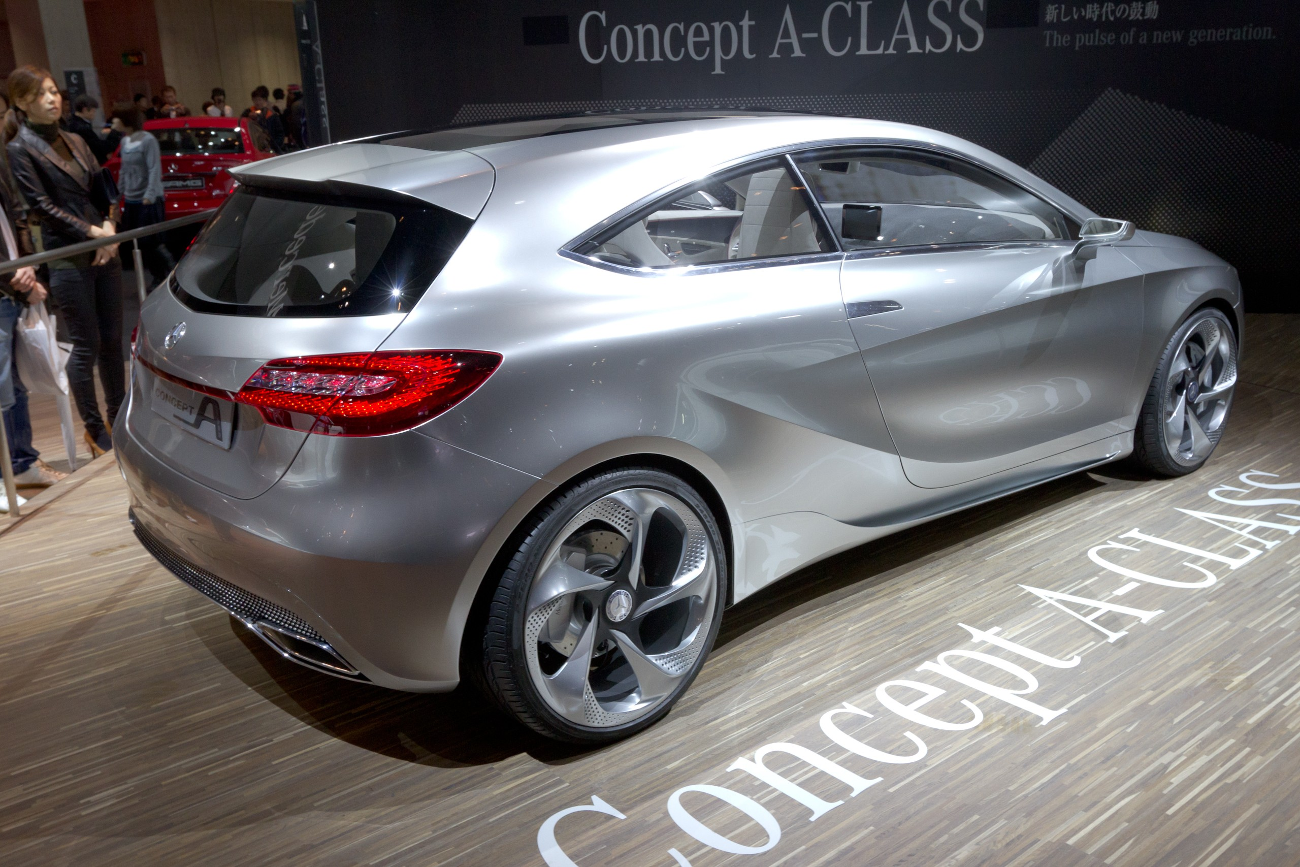 file mercedes benz concept a class rear 2011 tokyo motor wikimedia commons. Black Bedroom Furniture Sets. Home Design Ideas