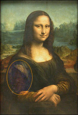 Mona lisa painted by da vinci