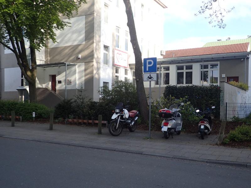 Motorradparkplatz Mercatorstraße