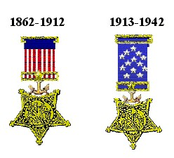 Early Navy versions of the Medal of Honor.