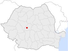 Localização de Sibiu na Roménia
