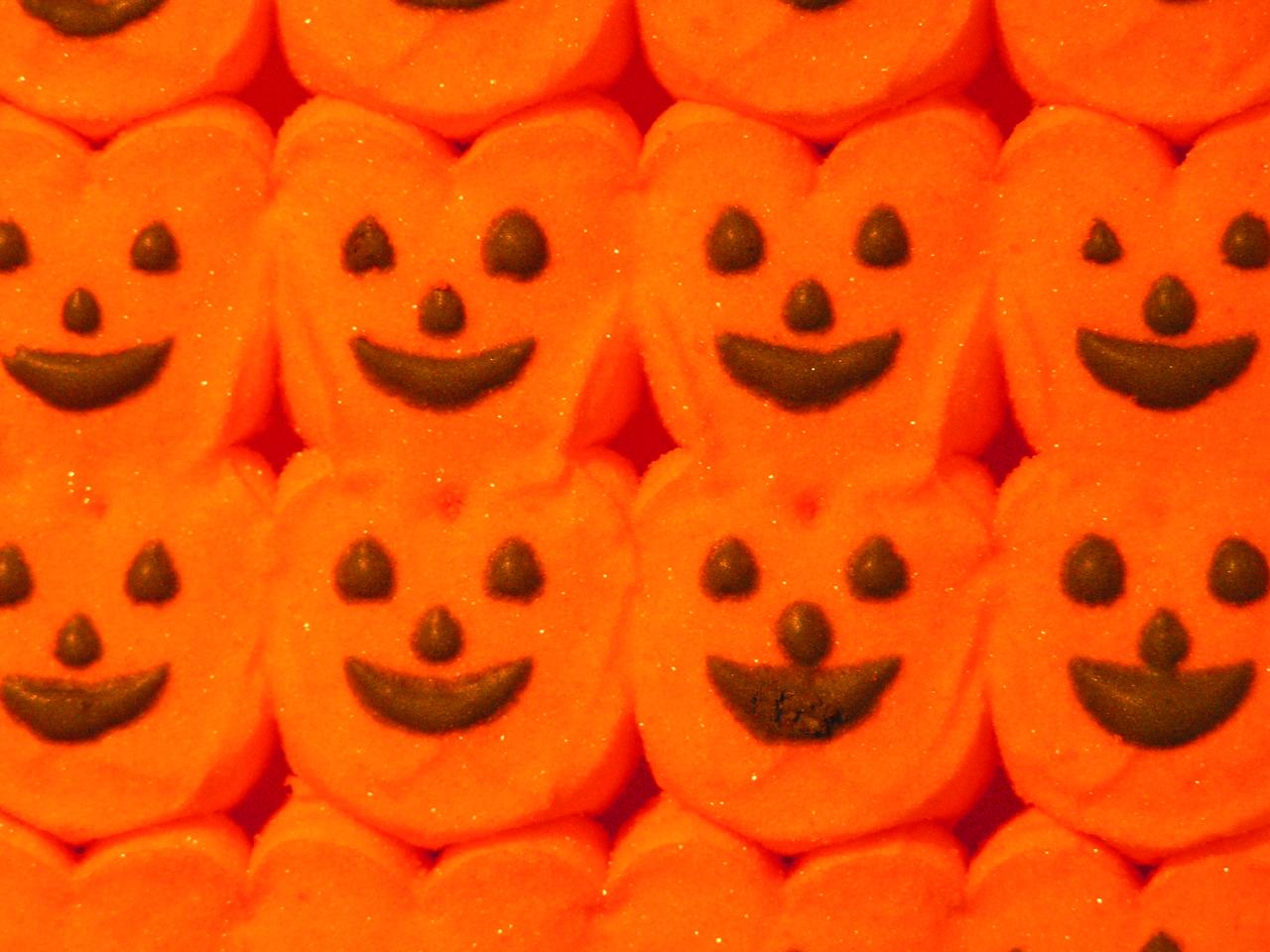 Orange pumpkin Halloween Peeps