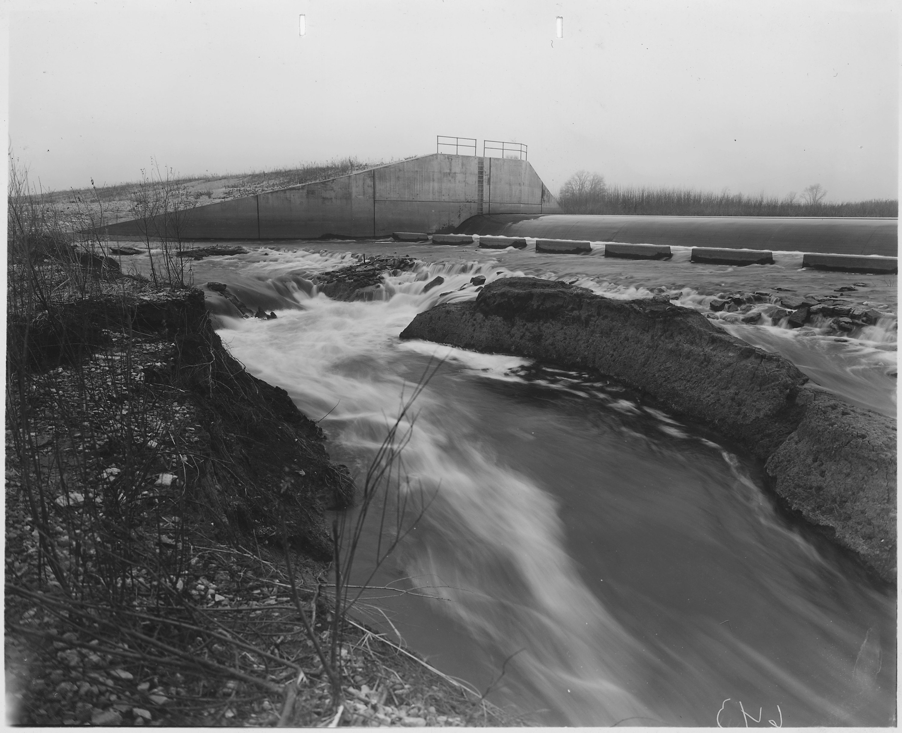 File Photograph Of Erosion Below Ogee Spillway Dam No 10