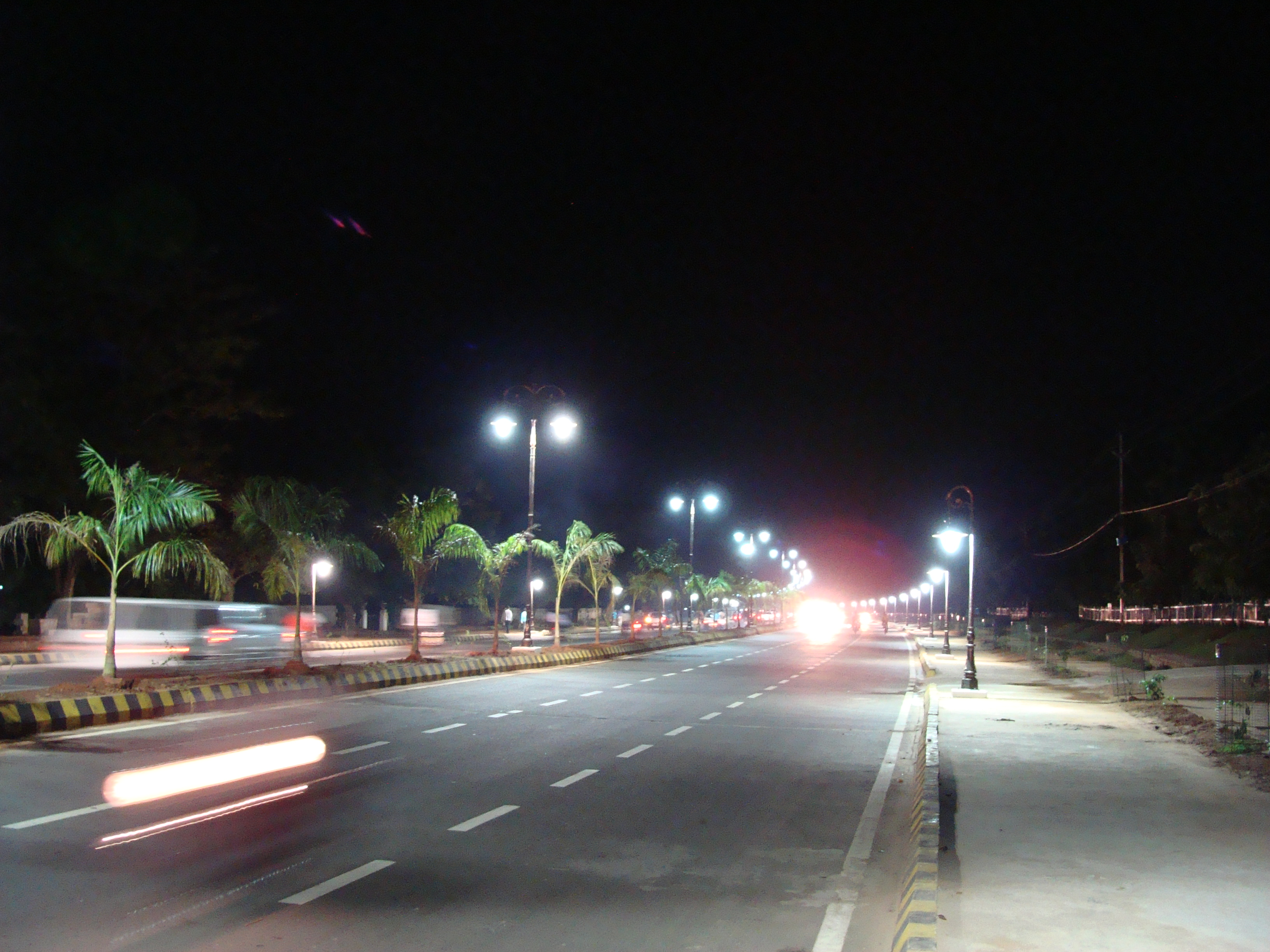 Rajpath at night