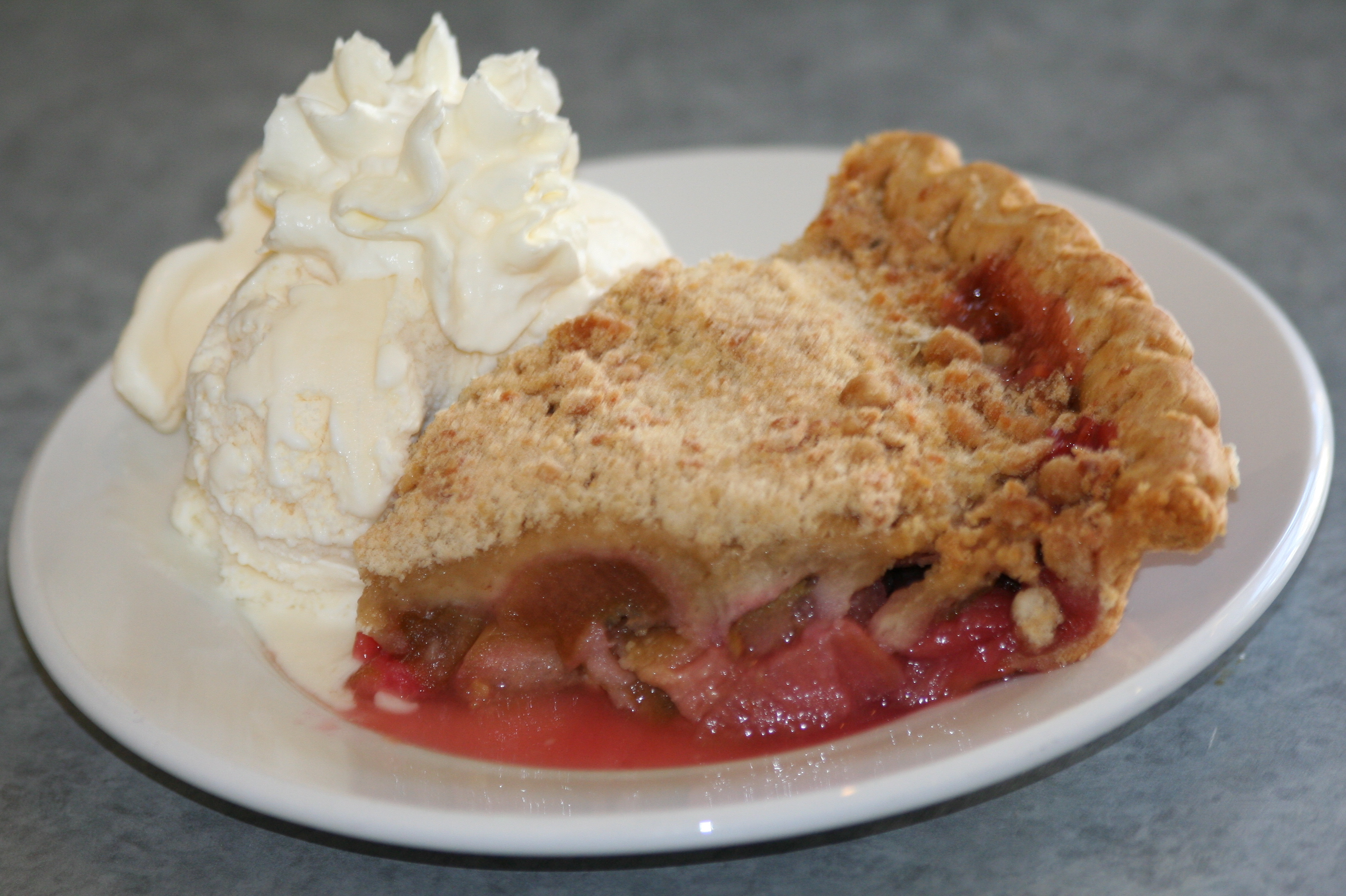 slice of rhubarb pie details type pie variations pie crust rhubarb ...