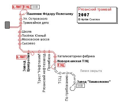 Общественный транспорт Рязани
