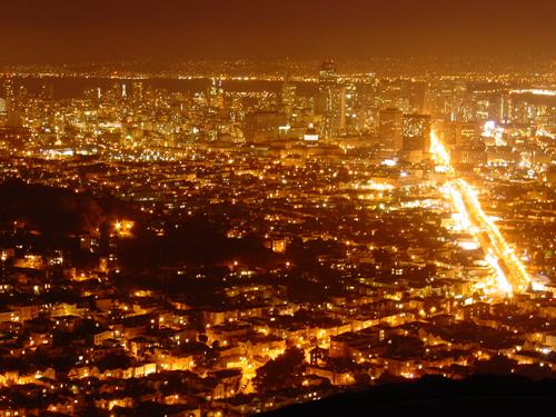 File:San francisco at night from twin peaks.jpg