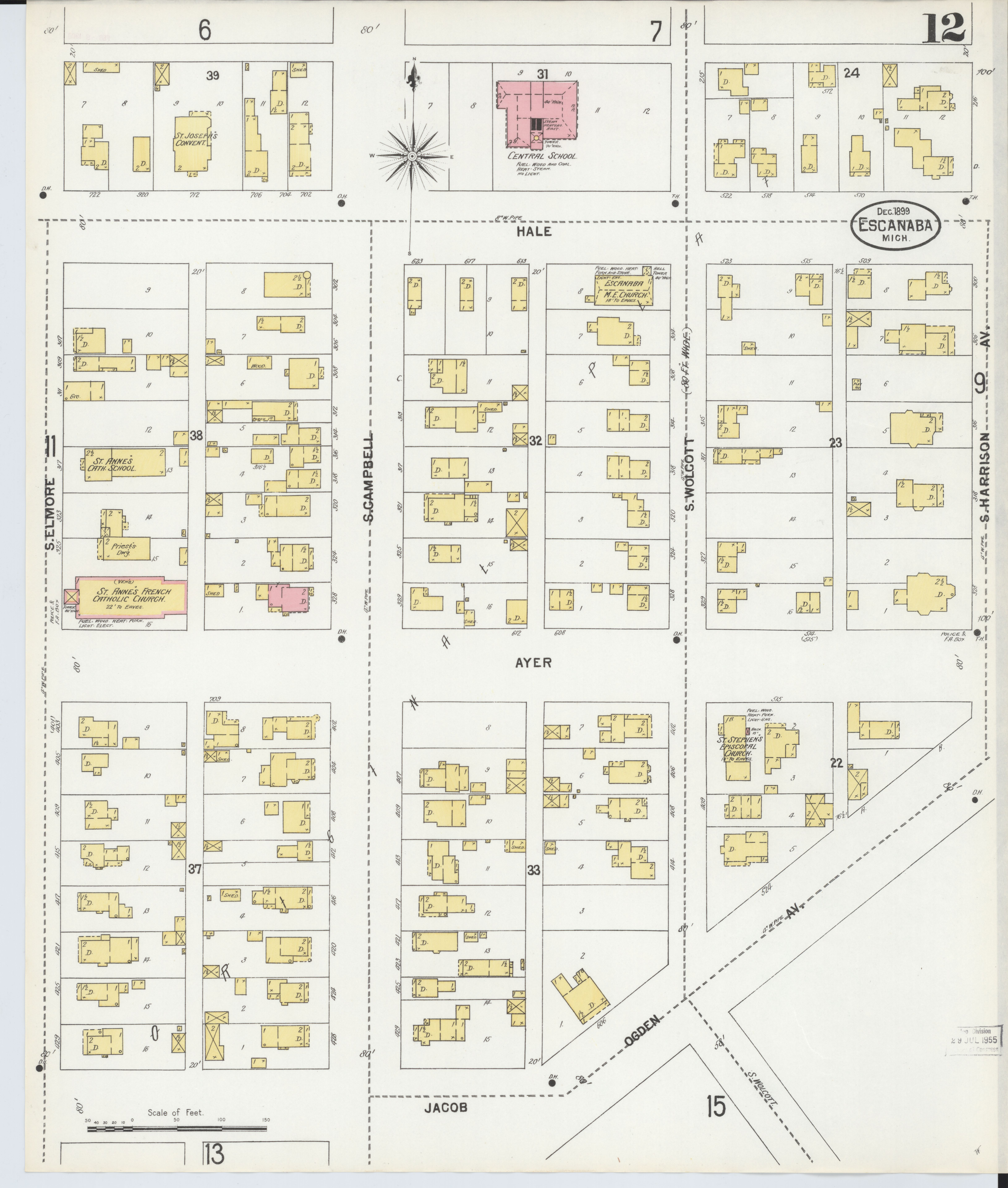 File Sanborn Fire Insurance Map From Escanaba Delta County