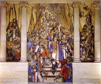 A mural by Santiago Martinez Delgado at the Colombian Congress representing the Congress of Cucuta Santiago Martinez Delgado in the colombian congress.jpg