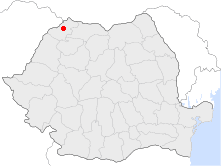 Location of Satu Mare
