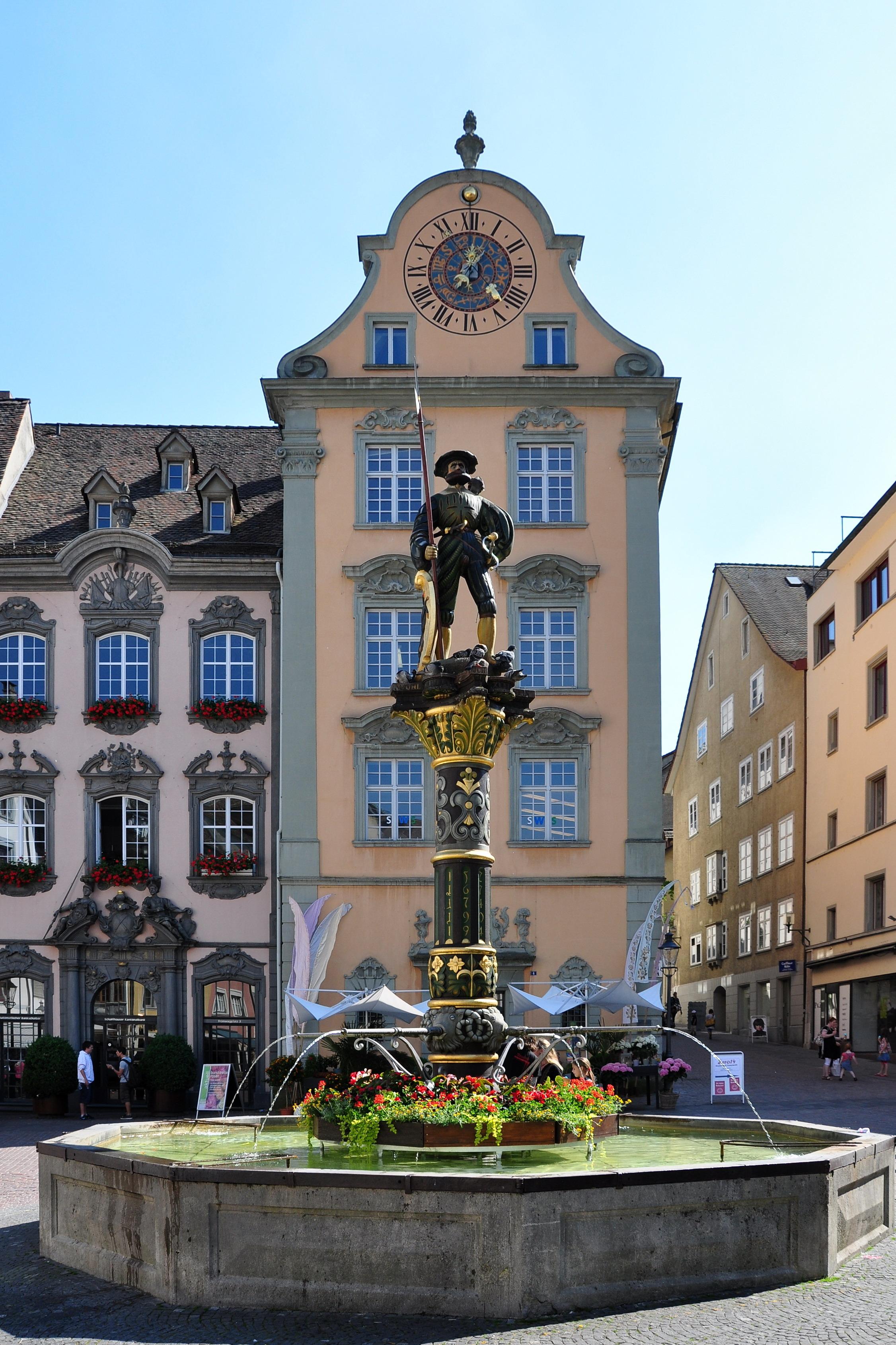 File:Schaffhausen - Fronwagplatz - Landsknechtbrunnen 2010-06-24 16-37-12  ShiftN.jpg - Wikimedia Commons