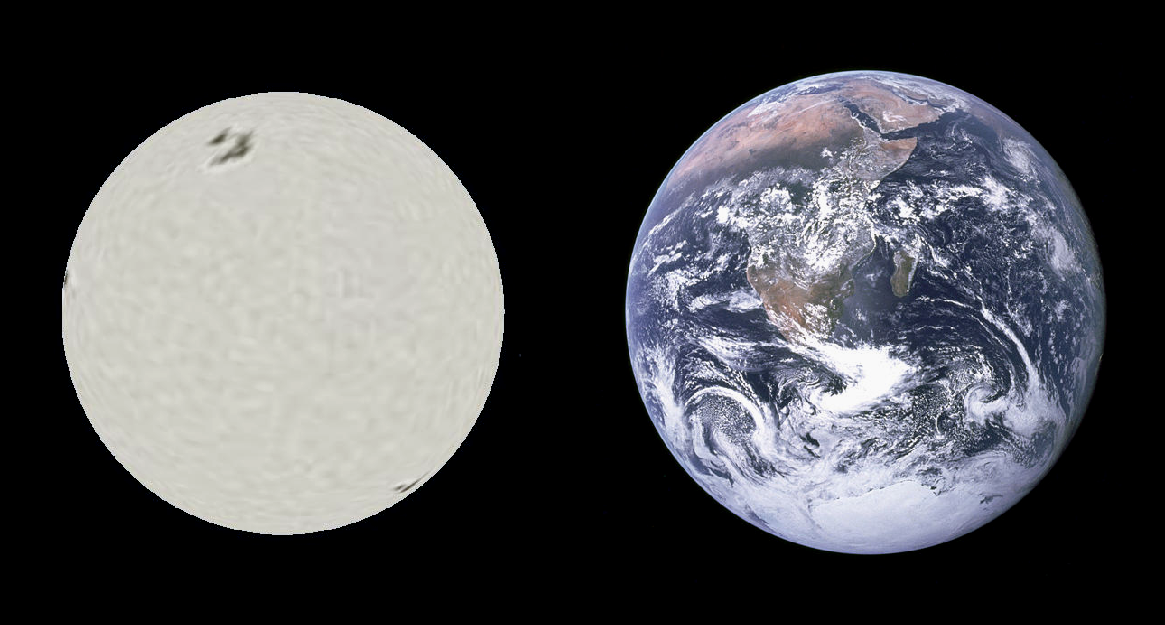 Sirius B and Earth Comparison