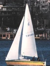 English: Sailing sloop