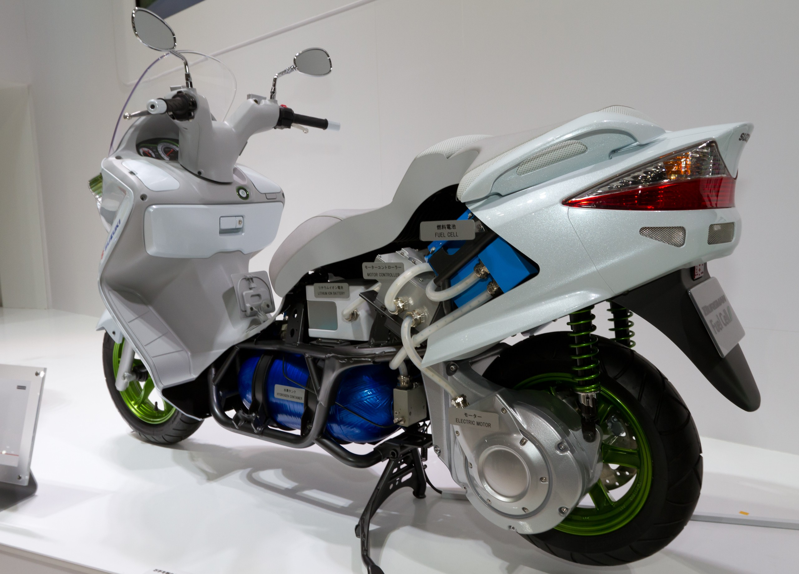 Electric Motorcycles And Scooters Wikipedia Wiring Diagram For Motorized Bicycle Suzuki Burgman Fuel Cell Prototype