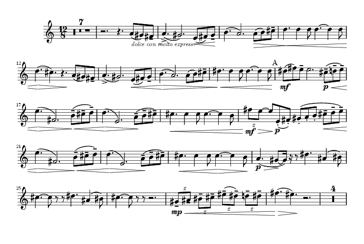 Horn Solo at the beginning of the second movement.