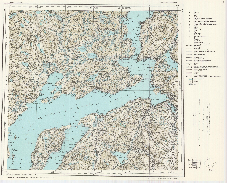 tranøy kart File:Topographic map of Norway, N7 Tranøy, 1962.   Wikimedia  tranøy kart