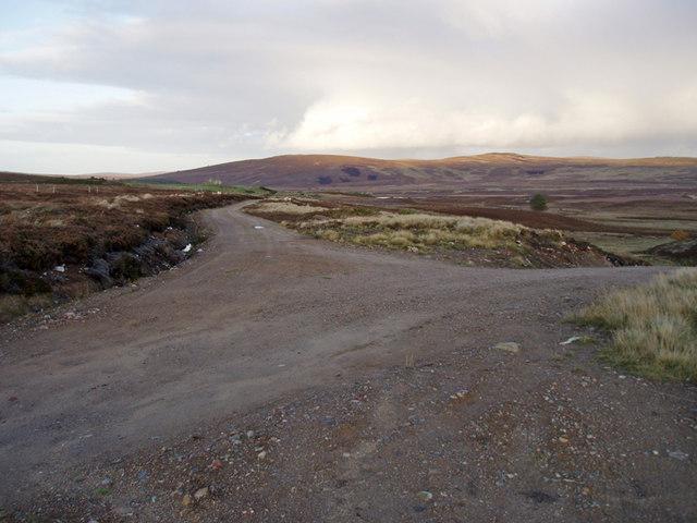 File:Track Junction near Rycharroch - geograph.org.uk - 1011797.jpg