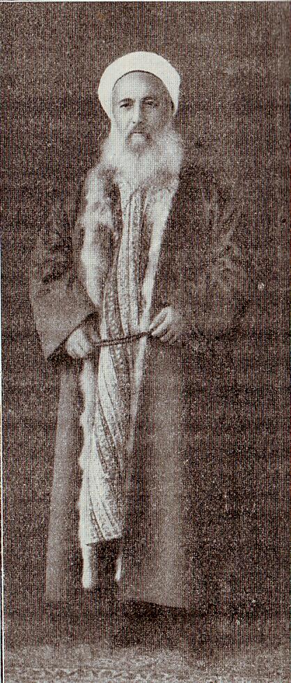 Image of Turkish Effendi with fur kaftan with fox skin lining (c. 1900)