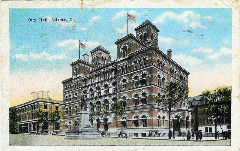 U.S. Post Office and Customs House (Atlanta) when used as City Hall 1910s-1920s