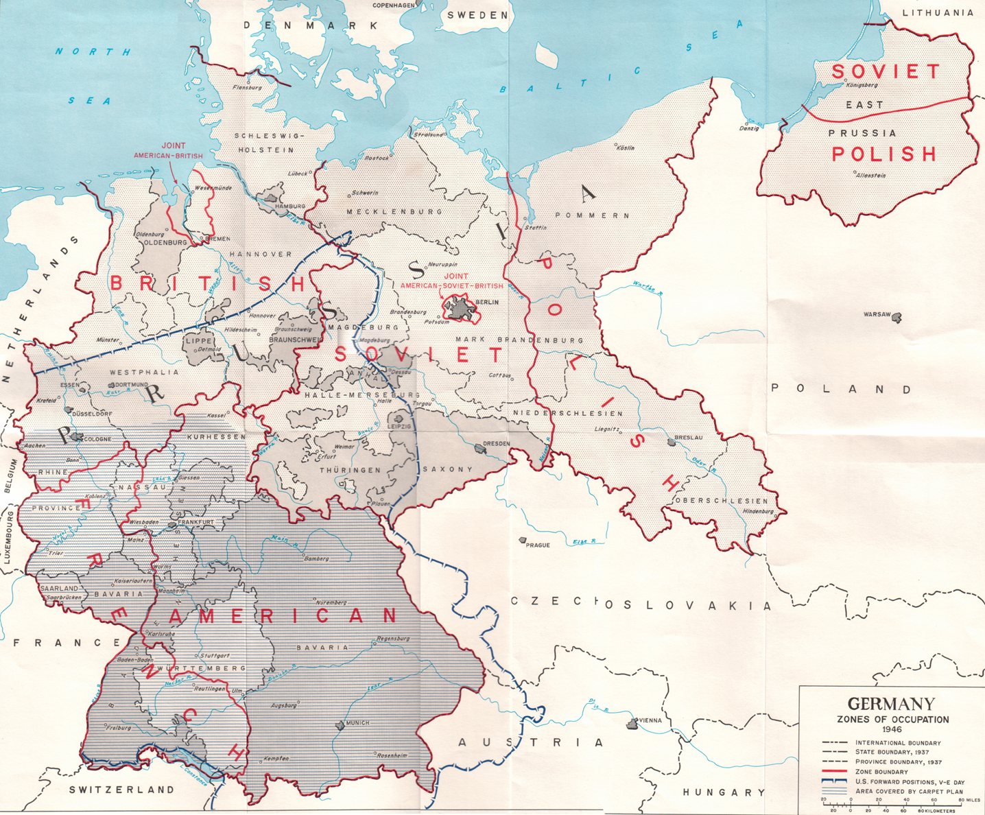 Description us army germany occupation zones 1945