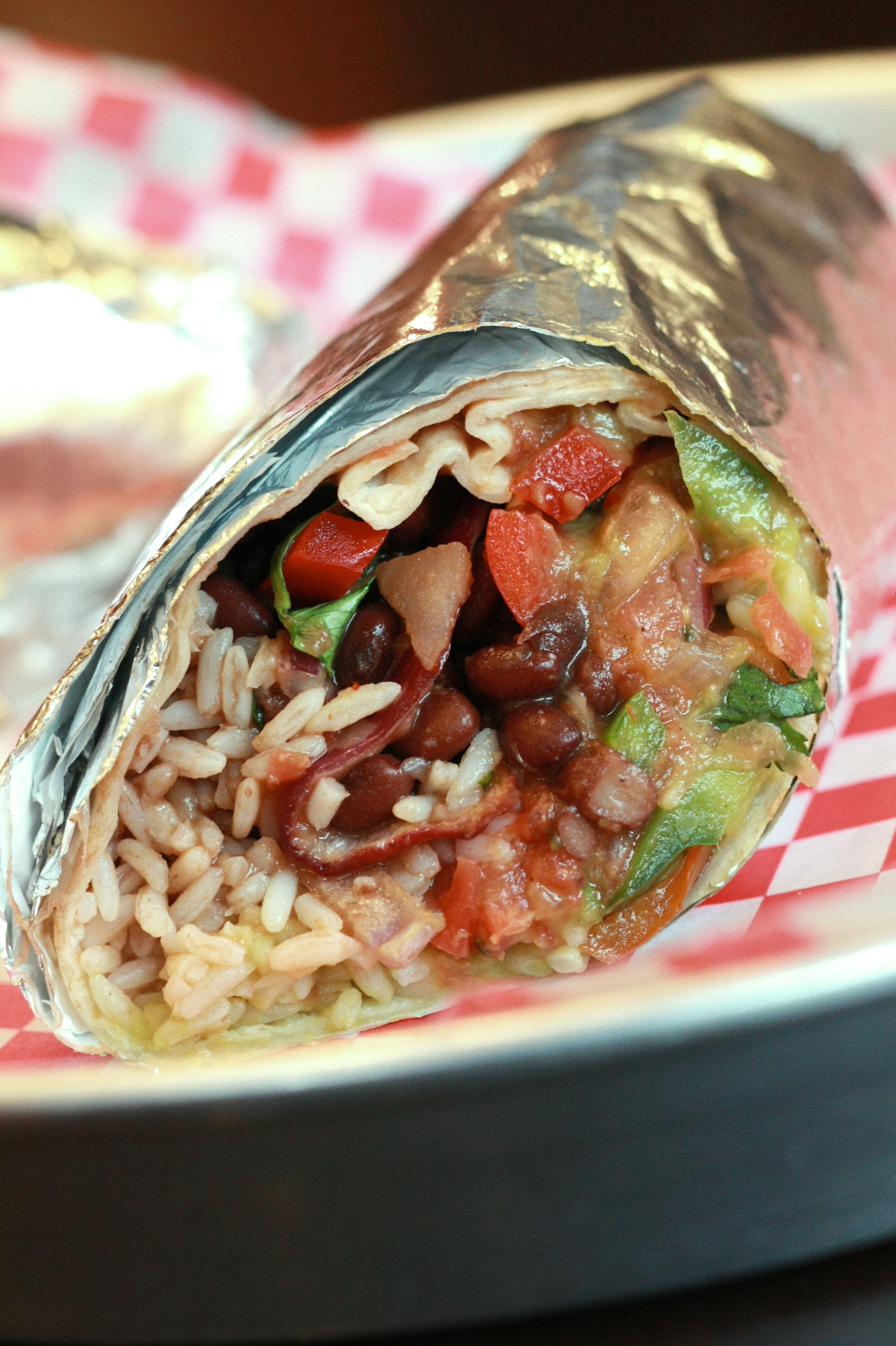Vegetarian Breakfast Burrito Fast Food