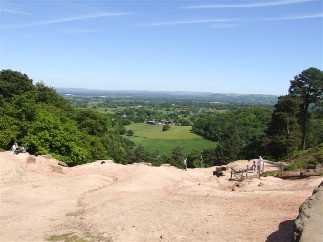 View from Alderley Edge towards the Pennines - geograph.org.uk - 181996