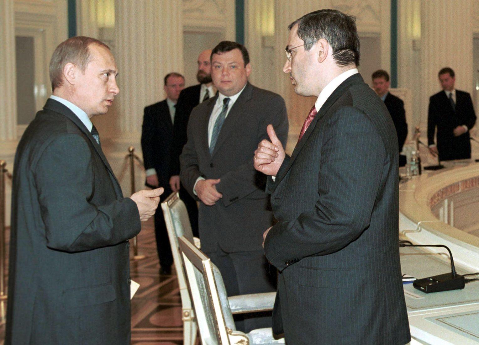 Путин и Ходорковский 31 мая 2001 года