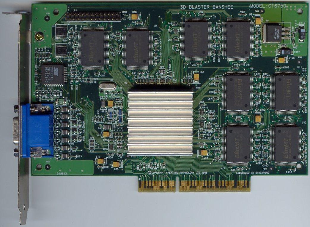 CREATIVE BANSHEE 16 MB AGP WINDOWS XP DRIVER DOWNLOAD