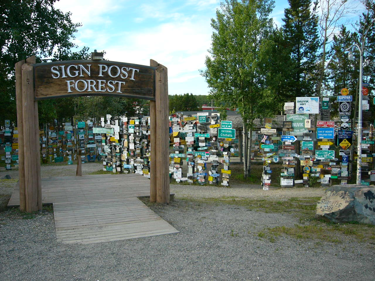 What to see and do along the Alaska Highway: Signpost forest at Watson Lake