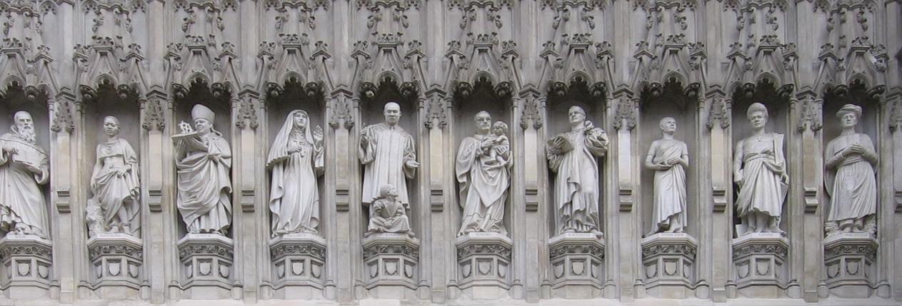 Bonhöffer als Martyrer des 20. Jahrhunderts (4. von rechts) an der Westminster Abbey