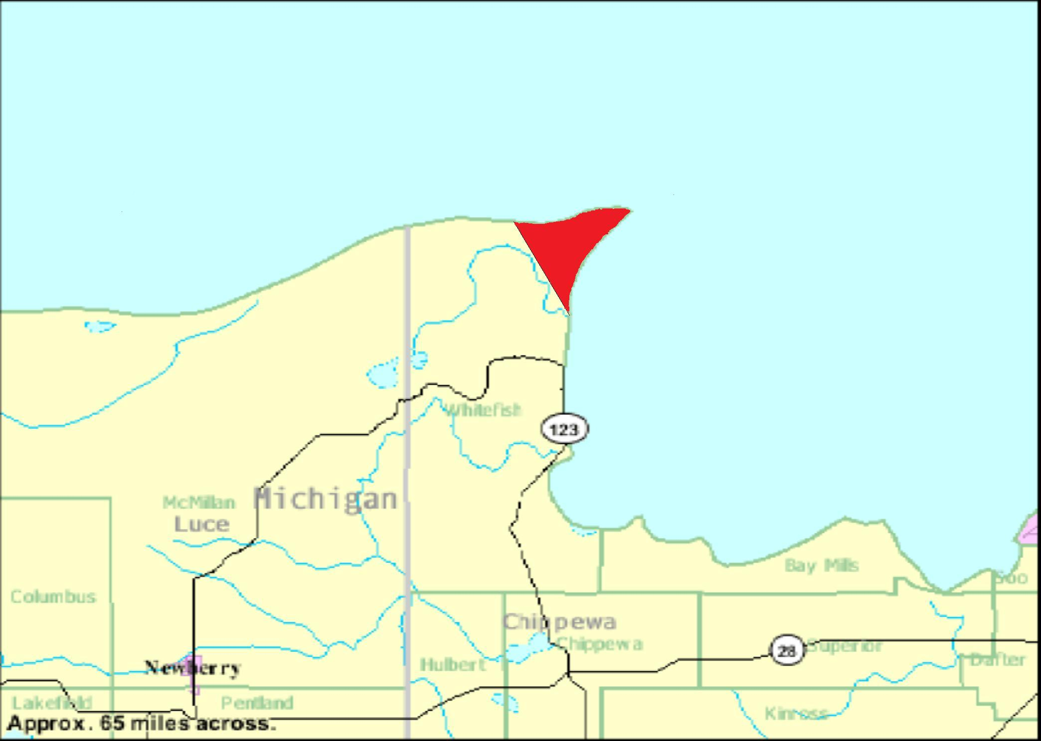 File:Whitefish Point Map.   Wikimedia Commons