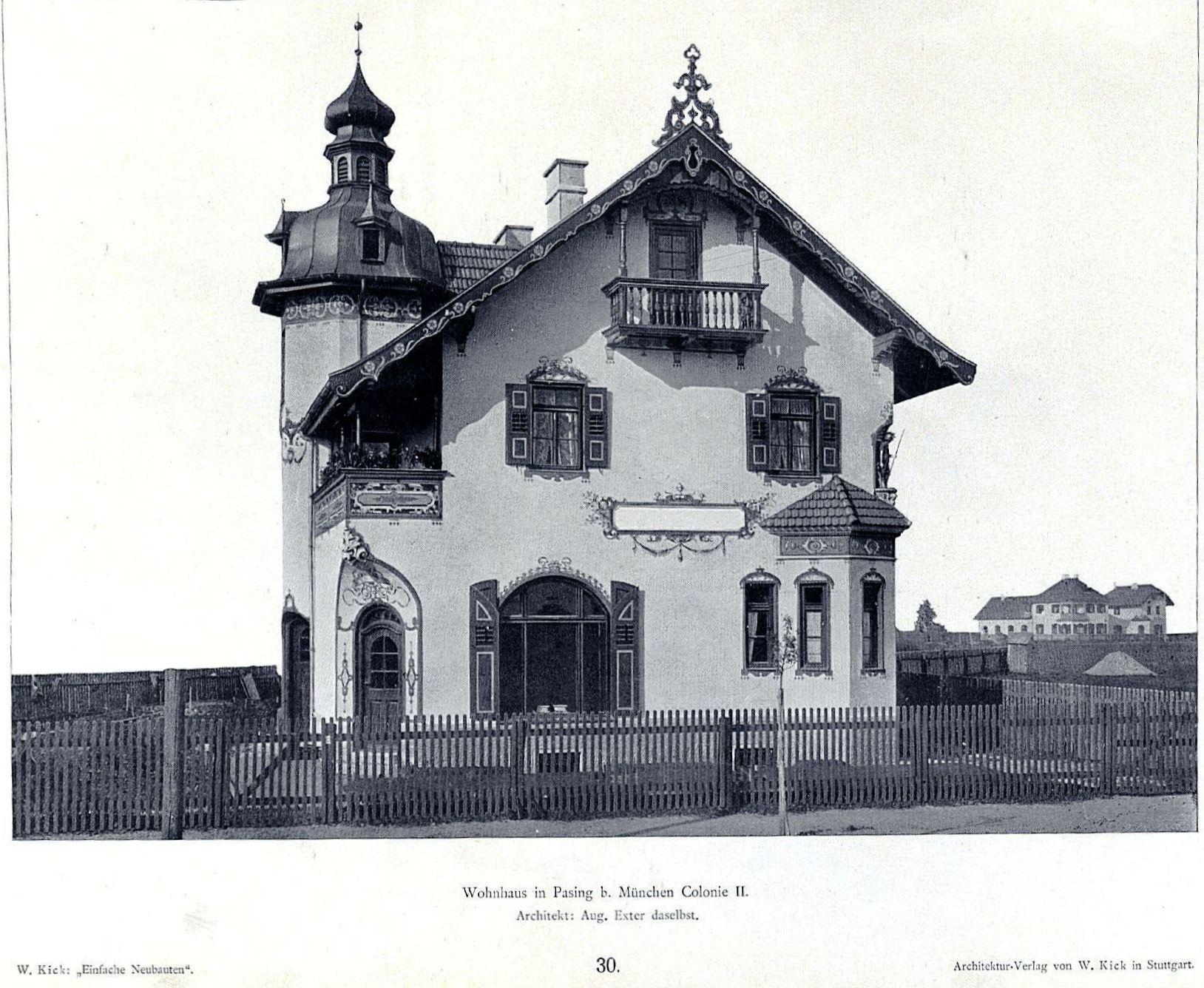file wilhelm kick einfache neubauten stuttgart 1890 wohnhaus in pasing b m nchen colonie ii. Black Bedroom Furniture Sets. Home Design Ideas