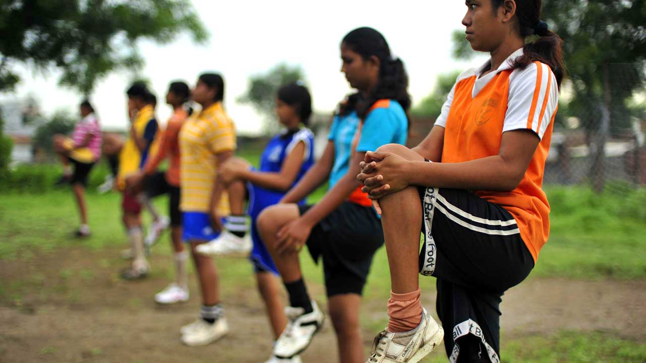 Image result for indian girls playing football