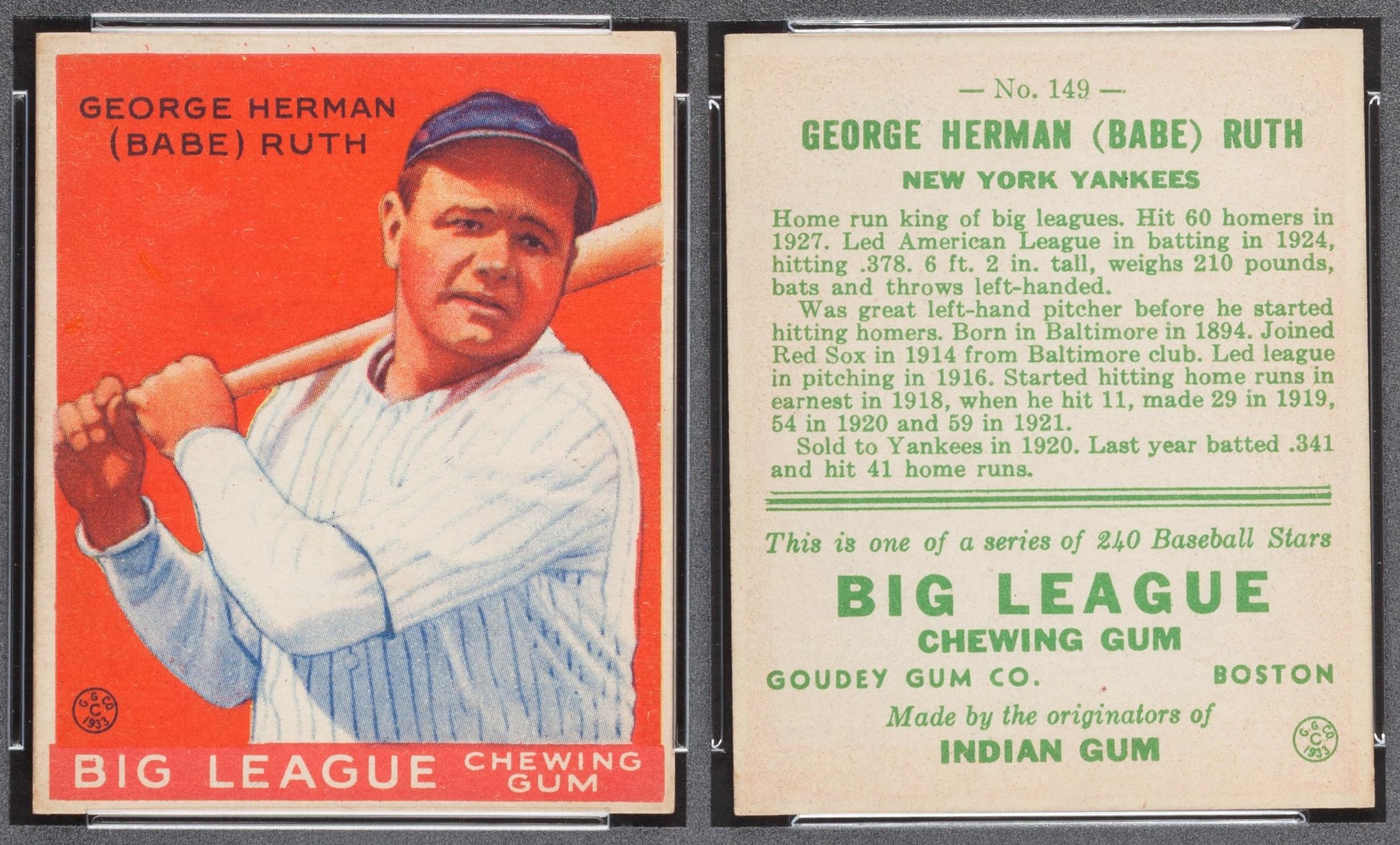 File1933 Goudey Babe Ruth 149jpg Wikimedia Commons